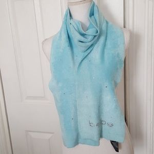 BEBE ULTRA SOFT BABY BLUE SCARF